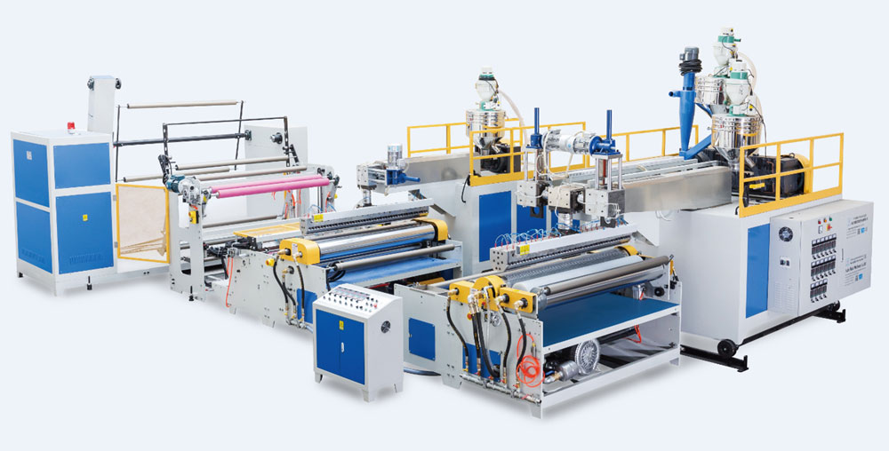 3-layer air bubble film machine (3 extruders)