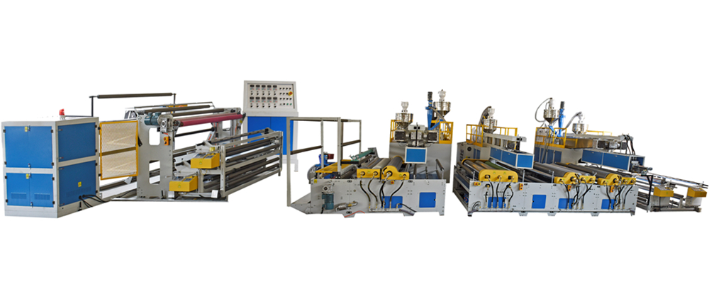 7-layer air bubble film machine (5 extruders)